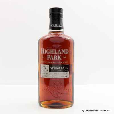 Highland Park 2002 14 Year Old Viking Soul Single Cask #2544