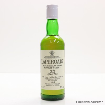 Laphroaig 10 Year Old 35cl & Matching mini 5cl