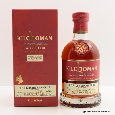Kilchoman 2010 Small Batch Release For The Kilchoman Club 3rd Edition
