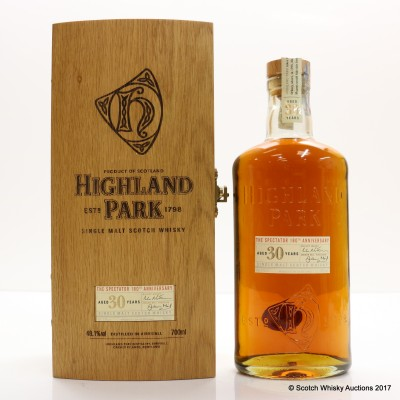 Highland Park 30 Year Old The Spectator 180th Anniversary