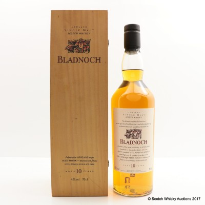 Flora & Fauna Bladnoch 10 Year Old In Wooden Box