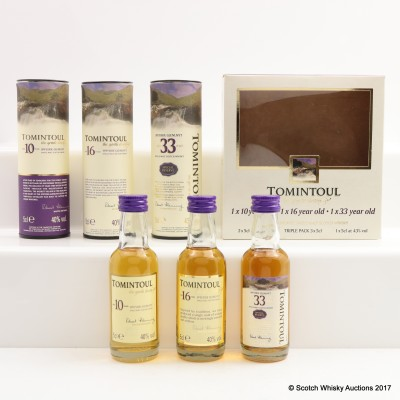 TOMINTOUL MINI COLLECTION 3 x 5cl