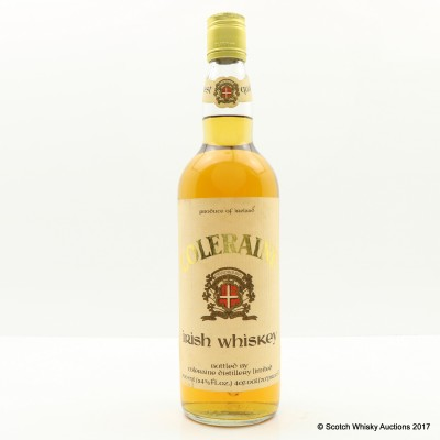 Coleraine Irish Whiskey 24 2/3 Fl Ozs