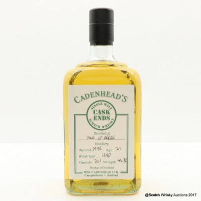 Arran 1996 20 Year Old Cadenhead's Cask Ends