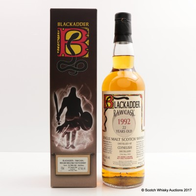 Clynelish 1992 22 Year Old Blackadder Raw Cask