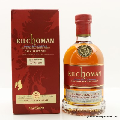 Kilchoman 2011 Single Cask Release For Islay Pipe Band