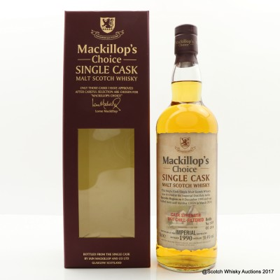 Imperial 1990 Single Cask Mackillop's Choice