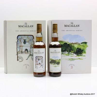 Macallan The Archival Series - Folio 1 & Folio 2 2 x 70cl