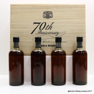 Nikka 70th Anniversary Selection 4 x 70cl