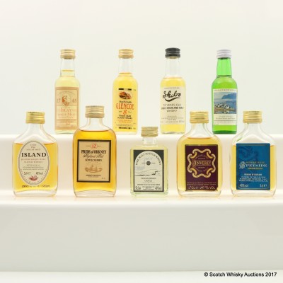 Assorted Minis 9 x 5cl Including Glencoe 8 Year Old Mini 5cl