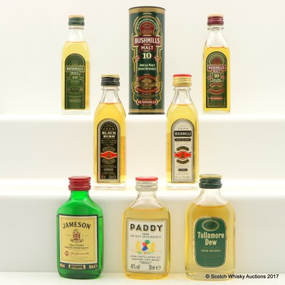 Assorted Minis 7 x 5cl Including Bushmills 10 Year Old Mini 5cl