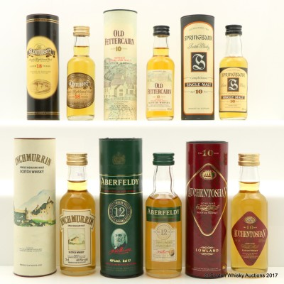 Assorted Minis 6 x 5cl Including Springbank 10 Year Old Mini 5cl