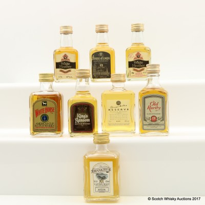 Assorted Minis 8 x 5cl Including White Heather 5 Year Old