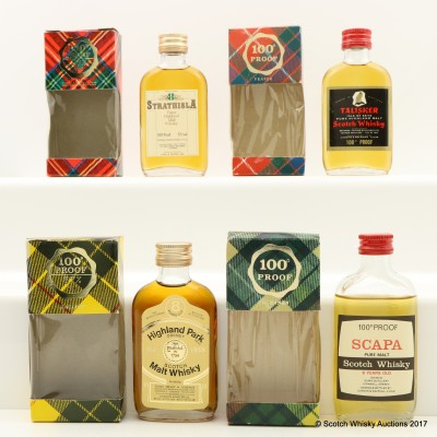 Assorted Minis 4 x 5cl Including Talisker 100° Proof