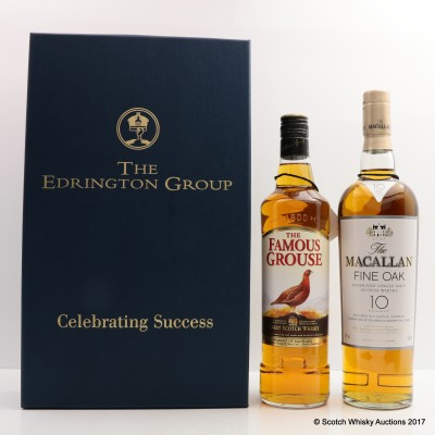 Edrington Celebrating Success Famous Grouse & Macallan 10 Year Old Fine Oak 2 x 70cl
