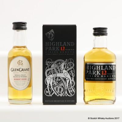 Highland Park 12 Year Old Viking Honour Mini 5cl & Glen Grant The Major's Reserve Mini 5cl