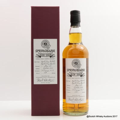Springbank 1997 180th Anniversary Society Bottling