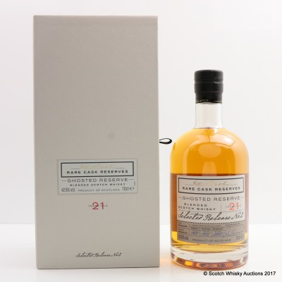 William Grant's Ghosted Reserve 21 Year Old