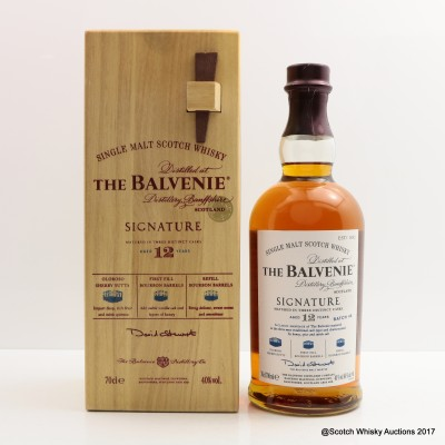 Balvenie 12 Year Old Signature Batch #4 In Wooden Box