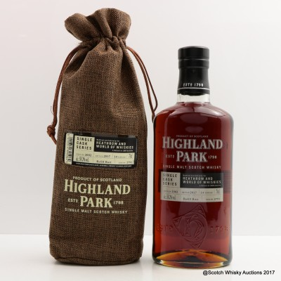 Highland Park 2002 14 Year Old For Heathrow & World of Whiskies Single Cask #2791