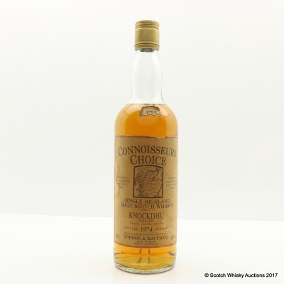 Knockdhu 1974 Connoisseurs Choice