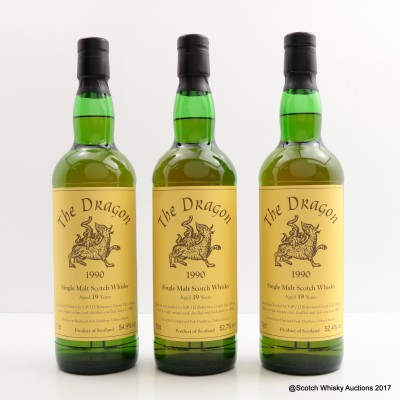 Highland Park 1990 19 Year Old The Dragon 'Three Sisters' 3 x 70cl