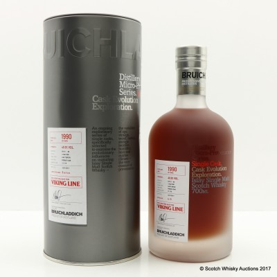 Bruichladdich 1990 26 Year Old Micro Provenance For Viking Line Haut Brion Cask