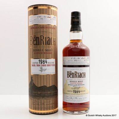 BenRiach 1984 28 Year Old Peated/PX Finish For Independent Spirit