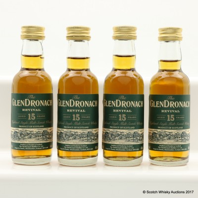 GlenDronach 15 Year Old Revival Minis 4 x 5cl