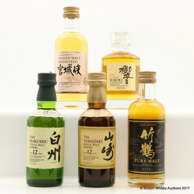 Assorted Japanese Minis 5 x 5cl