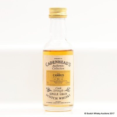 Cambus 1963 31 Year Old Cadenhead's Mini 5cl