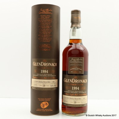 GlenDronach 1994 19 Year Old Single Cask #1098 for Monnier & Trachsel