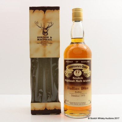 Dallas Dhu 1970 17 Year Old Connoisseurs Choice 75cl