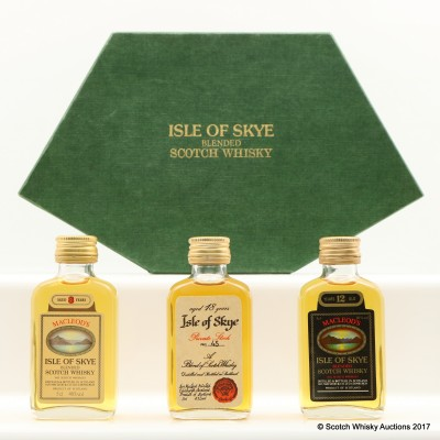 Isle Of Sky Blended Scotch Whisky Miniature Set 3 x 5cl