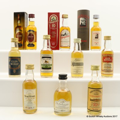 Assorted Minis 10 x 5cl Including Glenfarclas 10 Year Old Mini 5cl