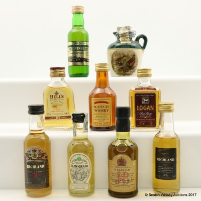 Assorted Minis 9 x 5cl incuding Glen Grant 5 Year Old