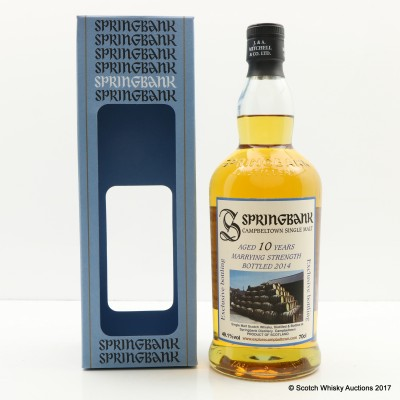 Springbank 10 Year Old Marrying Strength