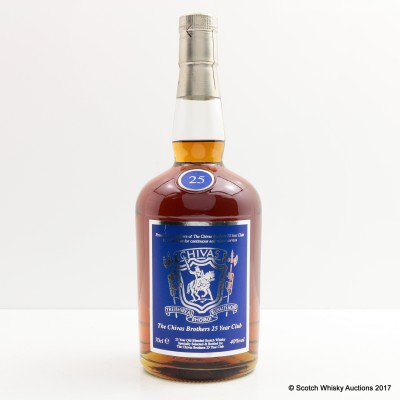 Chivas Brothers 25 Year Old For The 25 Year Club