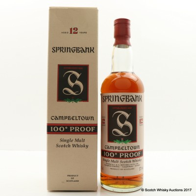 Springbank 12 Year Old 100° Proof