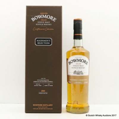 Bowmore 1999 14 Year Old Mashmen's Selection