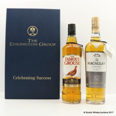 Edringtone Group Celebrating Success Famous Grouse & Macallan Fine Oak 10 Year Old