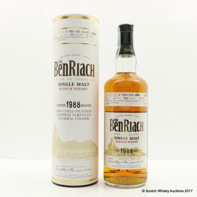 BenRiach 1988 16 Year Old Single Cask #802