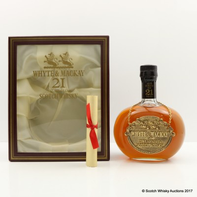 Whyte & Mackay 21 Year Old Decanter