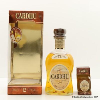 Cardhu 12 Year Old 75cl & Matching Mini