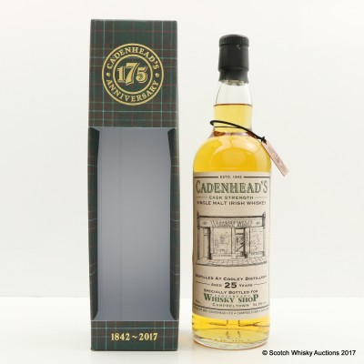 Cooley 1992 25 Year Old Cadenhead's For Cadenhead's Whisky Shop Campbeltown