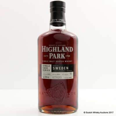 Highland Park 2002 13 Year Old For Sweden Single Cask #6403
