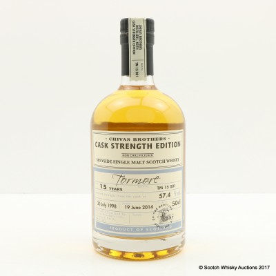 Tormore 1998 15 Year Old Chivas Brothers Cask Strength Edition 50cl
