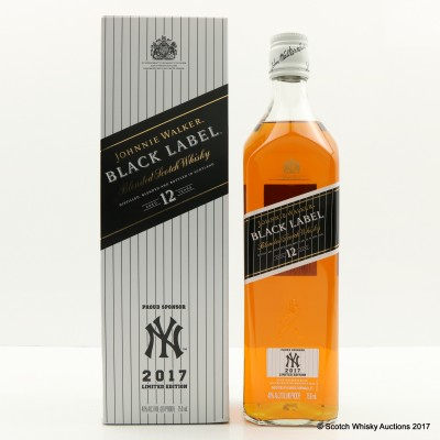 Johnnie Walker 12 Year Old Black Label New York Yankees 2017 Limited Edition 75cl