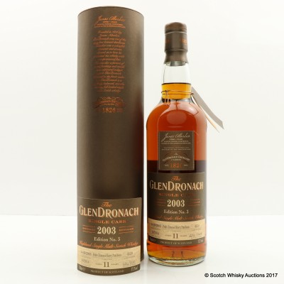GlenDronach 2003 11 Year Old Single Cask #4120