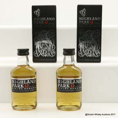 Highland Park 12 Year Old Viking Honour Mini 2 x 5cl